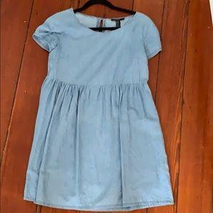 Denim swing dress
